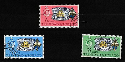 Trinidad & Tobago - Girl Guides golden jubilee - 3 used stamps