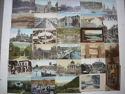 COLLECTION 200 VINTAGE POSTCARDS, TOPOGRAPHICAL from BRITISH ISLES