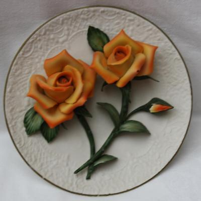 Franklin Mint The Orange Roses of Capodimonte Plate Limited Edition