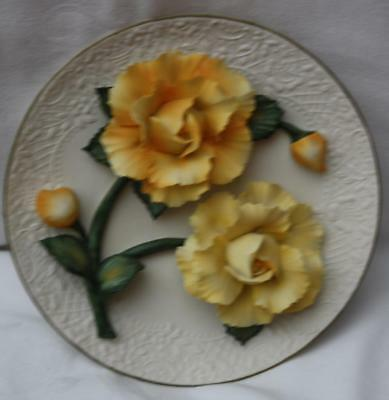 Franklin Mint The Yellow Roses of Capodimonte Plate Limited Edition
