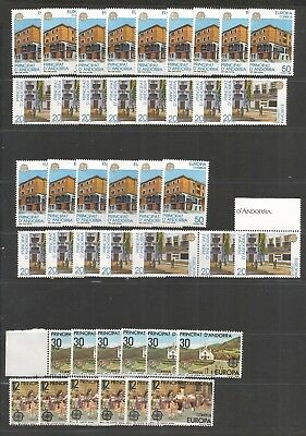 WED 230 Andorra - Spanish Andorre Espagnole 1981 & 1990 mixed years MNH stamps $