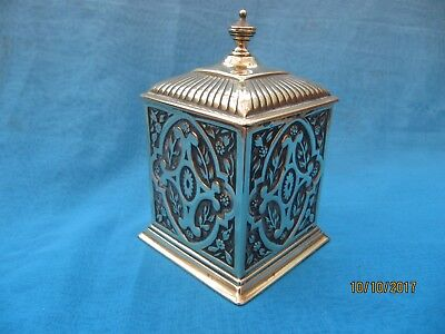 Vintage ~ Square Decorated Cast Brass Lead Lined Funeral or Tobacco Casket