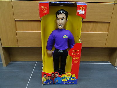 "The Wiggles 'Speak n Sing' doll by Spinmaster - 16"" Jeff Wiggle - RARE WITH BOX"
