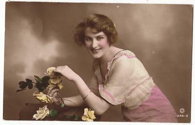 Vintage Glamour Rp Postcard,gladys Kurton,british Beauty,rotary A431-2,1915