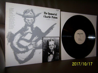 Charley Patton LP The Immortal Charlie Patton Number 1 (1929-32)
