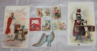 Antique Victorian Trade Card Bits and Pieces From Scrapbook TINY Shoe Lovers Etc