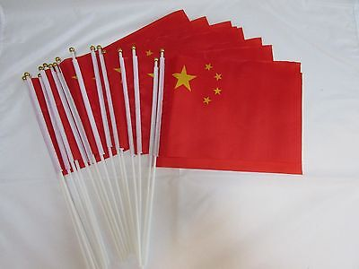 "12/25/50/100 X China / Chinese 24"" Large Hand Flags - Chinese New Year"