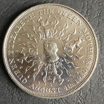 1980 QUEEN ELIZABETH THE QUEEN MOTHER 80th BIRTHDAY CROWN   (Ref:13A)