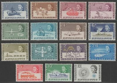British Antarctic Territory 1963 QEII Set to £1 Mint SG1-15 cat £145