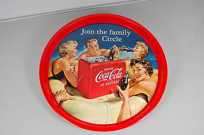 Coca Cola Tablett Friendly Circle  Retro Werbung