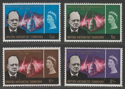 British Antarctic Territory 1966 QEII Churchill Set Mint SG16-19 cat £32 BAT
