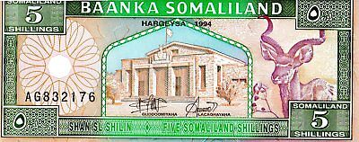 Somaliland 1994 5 Shillings Currency Unc
