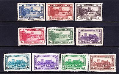 Lebanon 1937 Air Issue - Landscapes - Mint hinged  - Cat £40.90  - (46)