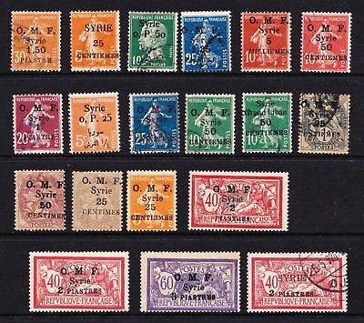 Syria 1920s O.M.F Overprints - Mint & used selection  - (444)