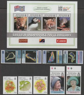 British Indian Ocean Territory 2000 QEII Selection UM Mint inc Stamp Show