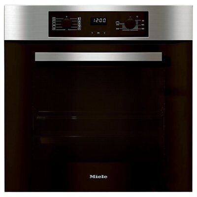 Miele H2265BP Discovery Built-In Pyrolytic Single Oven Clean Steel Home Kitchen