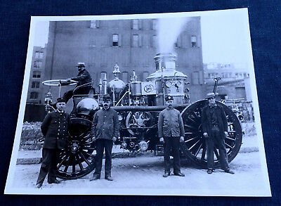 FOUR 189Os PHOTOS STEAMERS SELF PROPELLED FIRE APPARATUS E-35 BOSTON MA REPRINTS