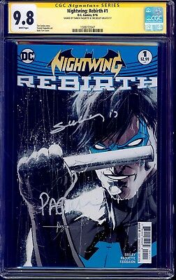 Nightwing Rebirth #1 CGC SS 9.8 signed x2 Yanick Paquette & Tim Seeley NM/MT