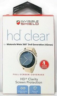 Zagg InvisibleShield HD Clear Motorola Moto 360 42mm 2ND GEN Screen Protector