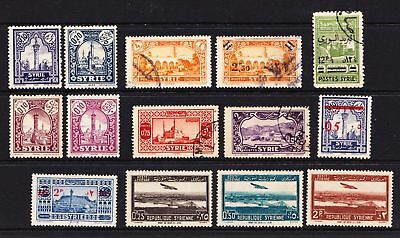Syria 1920s Various early issues - Mint hinged & used   - (445)