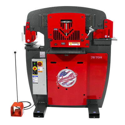 Edwards IW75-3P208-AC600 75T Ironworker - 3Ph, 208V, Acc Pack