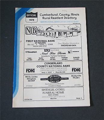Cumberland  County, Illinois IL Rural Resident Directory 1979  residence map