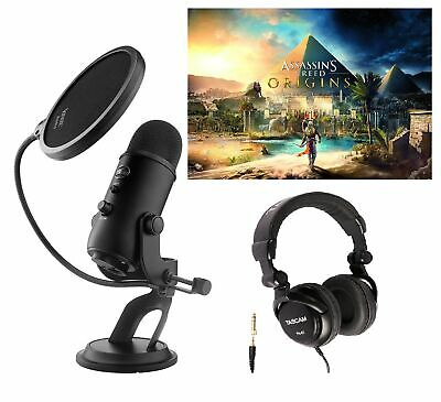 Blue Microphones BLACKOUT YETI Microphone w/ Assassin's Creed Game Code & Bundle