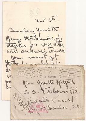 WWI British Letter & Censored Cover. BEF France, 1915.