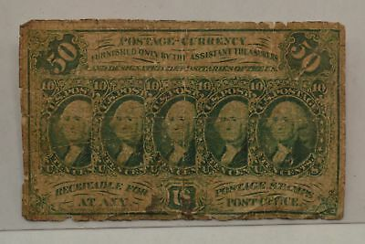 1862 First Issue *No Perf. No Monogram* 50 Cents Fractional Currency *Q12