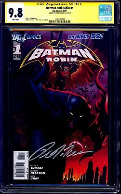 Batman and Robin #1 CGC SS 9.8 signed by Peter Tomasi DC NEW 52 1st PRINT NM/MT