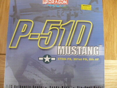 Dragon Wings 50051 NA P-51D Mustang green 375 FS 361 FG 8th AF 1:72  as shown