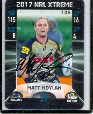 2017 NRL ESP Xtreme Authentic Signature card Matt Moylan - Penrith panthers
