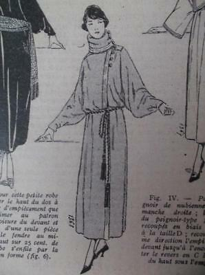 1920s vintage antique French sewing pattern dressing gown peignoir