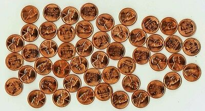 Stunning Gem BU Roll of 50 1952-D Lincoln Wheat Cents Gorgeous Fully Red Roll