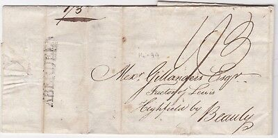 1792 JAMES THOMSON BANKING LETTER ABERDEEN TO ALEXr GILLANDERS FACTOR OF LEWIS