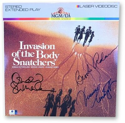 Sutherland/Adams/Cartwright Autographed Laserdisc Cover Body Snatchers GV865962
