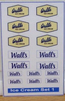 Wall's Ice Cream set stickers (A)