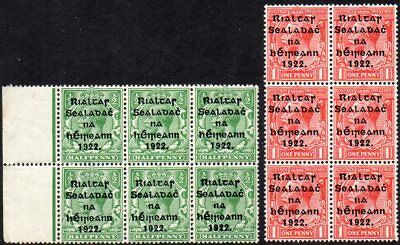 IRELAND  1922  1/2d and 1d  *** SUPERB M N H *** BLOCKS