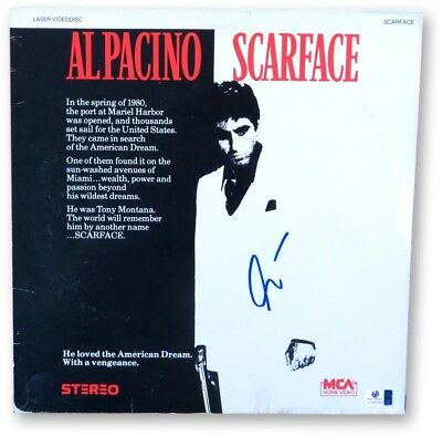 Al Pacino Signed Autographed Laserdisc Cover Scarface Tony Montana GV865958