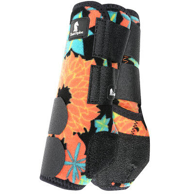 L- Classic Equine Legacy System Front Leg Support Horse Sport Boots Coral Tropi