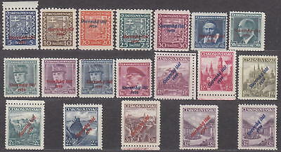 SLOVAKIA - 1939 NAZI GERMANY OCCUPATION - OVERPRINTS Mi. 2-19a+b -*MLH*