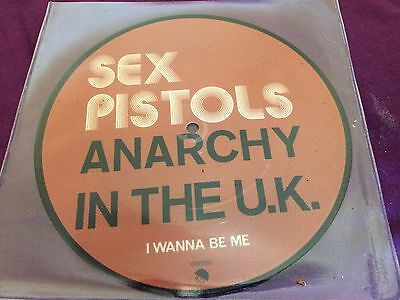 """Sex Pistols – Anarchy In The Uk  rare 7"""" RE picture disc! MINT!"""
