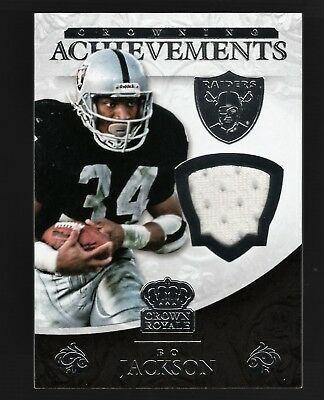 2015 Crown Royale Crowning Achievements Bo Jackson Worn Jersey #/199 RAIDERS