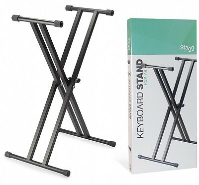 """Stagg Dual """"X"""" Keyboard Stand - KXS-A6"""