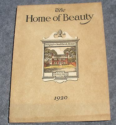 1920 'The Home of Beauty' American Face Brick Assoc Designs for a Small Brick Ho