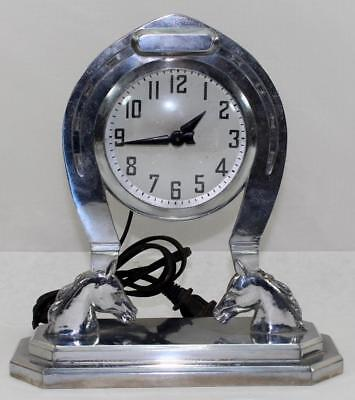 Vintage Howard Clock Corporation Horseshoe Electric Clock