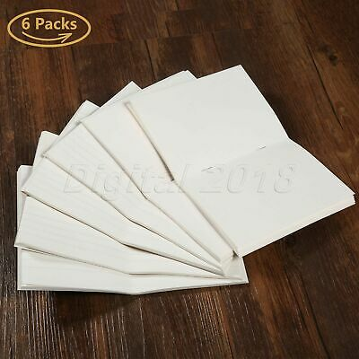 6 Set 100gsm Blank Paper Refill For Notepad Passport Notebook Diary Memo Journal