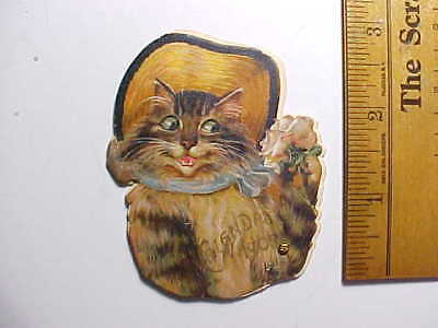1905 Tiny Miniature Calendar Book Shaped Like A Cat Advertises A Chicago Tailor