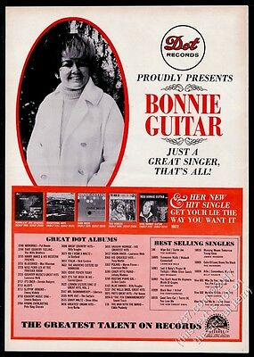 1966 Bonnie Guitar photo Dot Records vintage trade ad