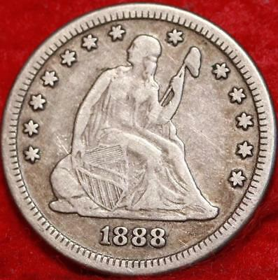 1888-S San Francisco Mint Silver Seated Liberty Quarter Free Shipping